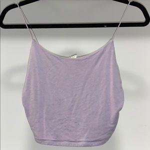 Lilac basic tank top
